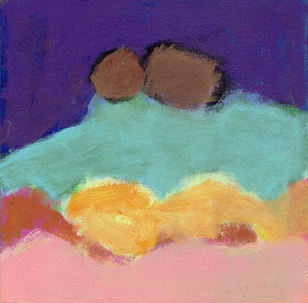 """Small landscape, Day 16 - 6"""" x 6"""" on Masonite"""