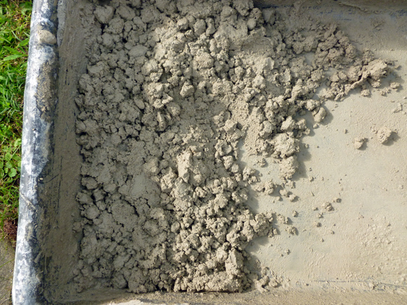 Mortar mix mixed small 8-16