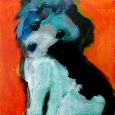 Black and White Dog 6x6 7-17005