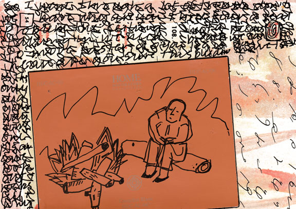 Postcard Campfire Blaze 3-18001