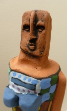 Clay figurine partial view #4 8-1805