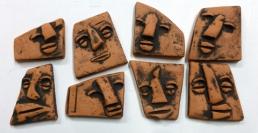 Clay tile faces 9-196