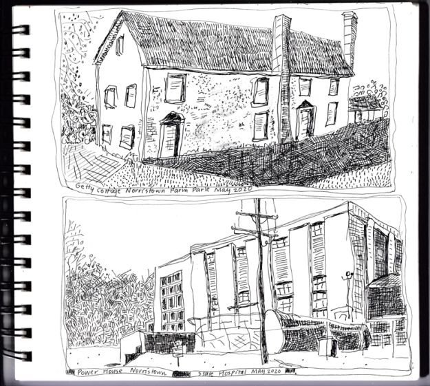 Drawing Getty Cottage-Powerhouse Norr Farm Park 5-20a